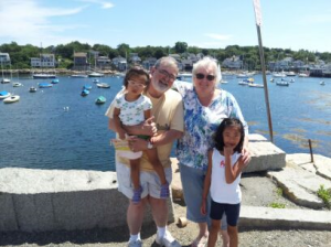 Pa, Gram, and the girls in Rockport