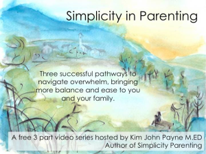 video simplicity parenting