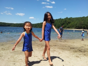 Girls at Walden Pond